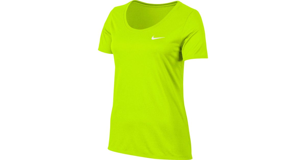 c2edb20b4b59 Lyst - Nike Woman s Dry Legend Training T-shirt in Green