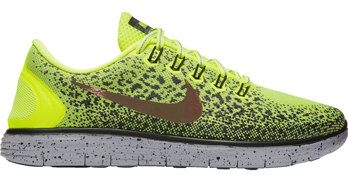 4ed3b1991d6 Lyst - Nike Free Run Distance Shield Running Shoes in Green for Men