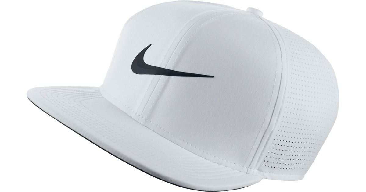 3a6a94605c00c Nike Aerobill Perforated Golf Hat in White for Men - Lyst