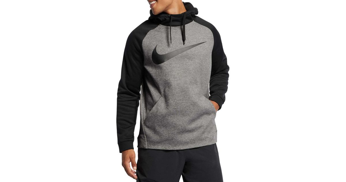 4c8361d967 Nike Therma Swoosh Essential Hoodie in Gray for Men - Lyst