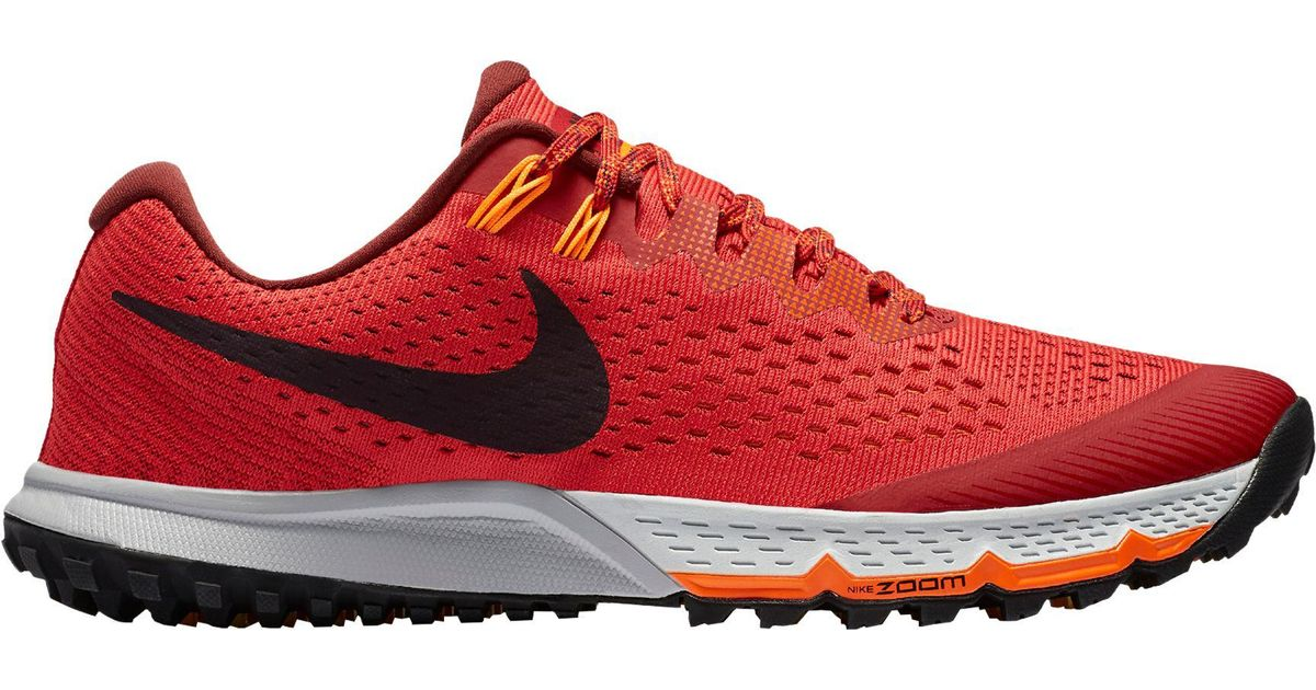 Nike Red Air Zoom Terra Kiger 4 Trail Running Shoes for men