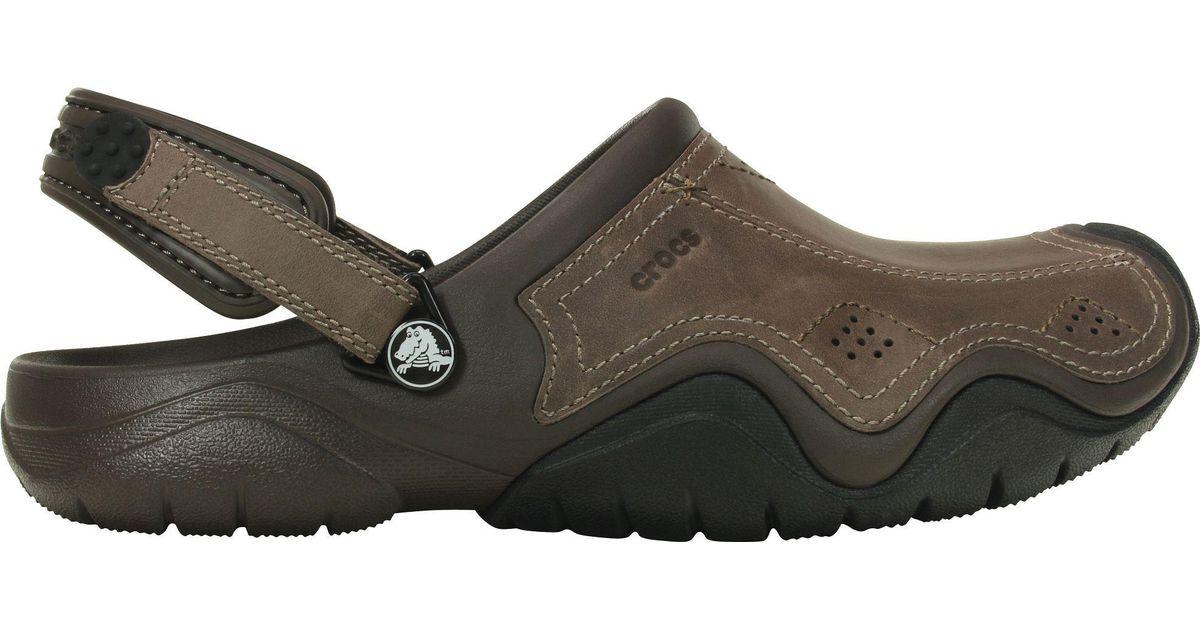 o rozsądnej cenie na stopach o profesjonalna sprzedaż Crocs™ Brown Swiftwater Leather Clogs for men
