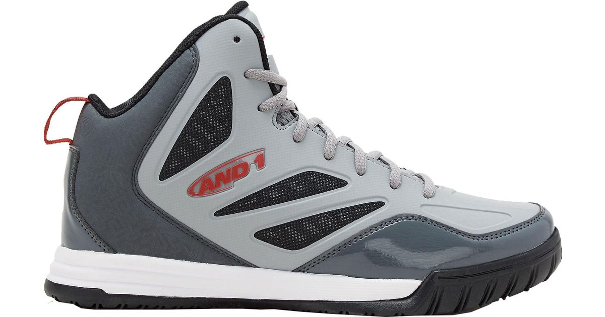 AND1 Gray Tactic Basketball Shoes