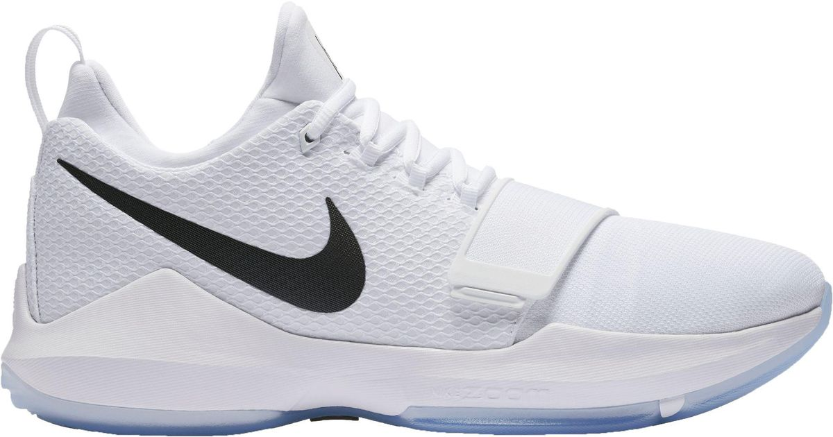 new style 817a2 1c399 Nike White Pg 1 Basketball Shoes for men