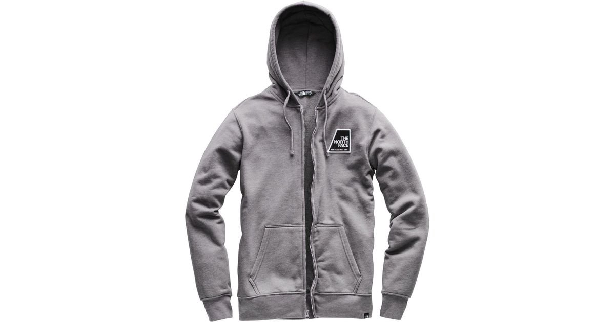 64d34efea The North Face Gray Patches Full Zip Hoodie for men