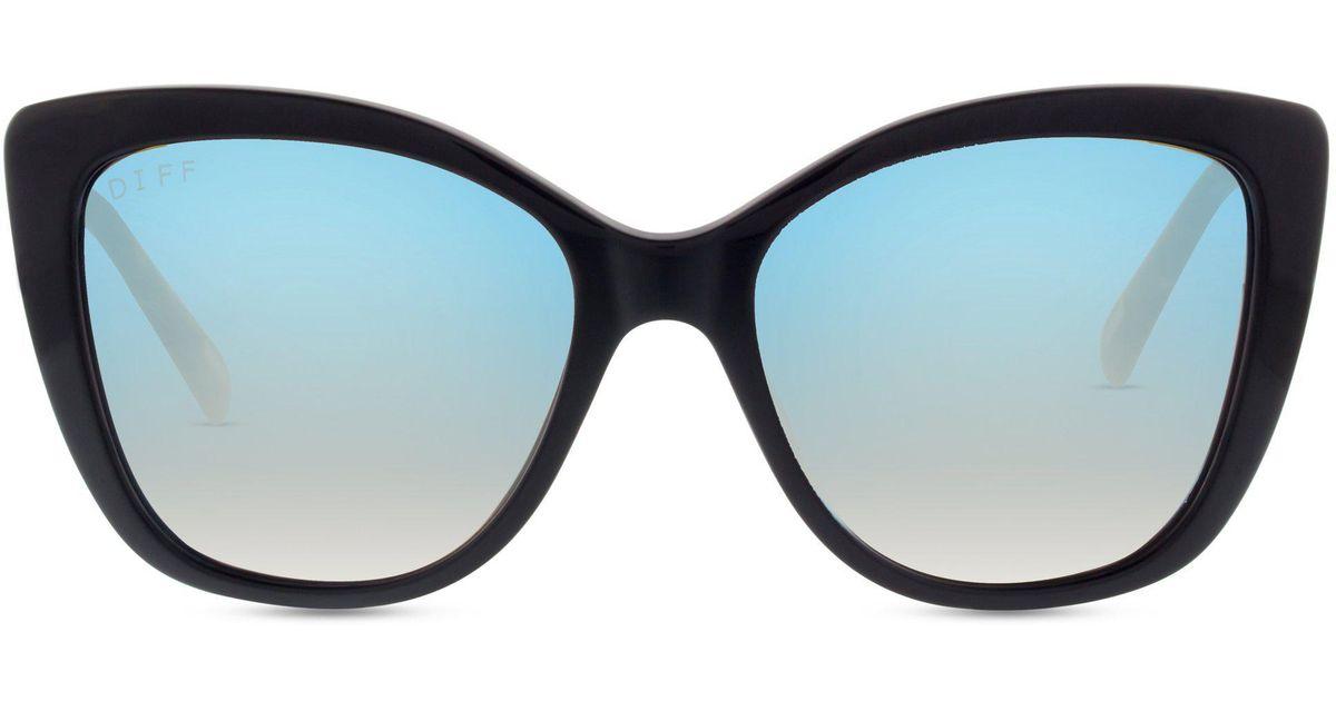 1baab9c18dd Lyst - DIFF Christina El Moussa - Ruby + Black Frame + Blue Flash Lens in  Blue