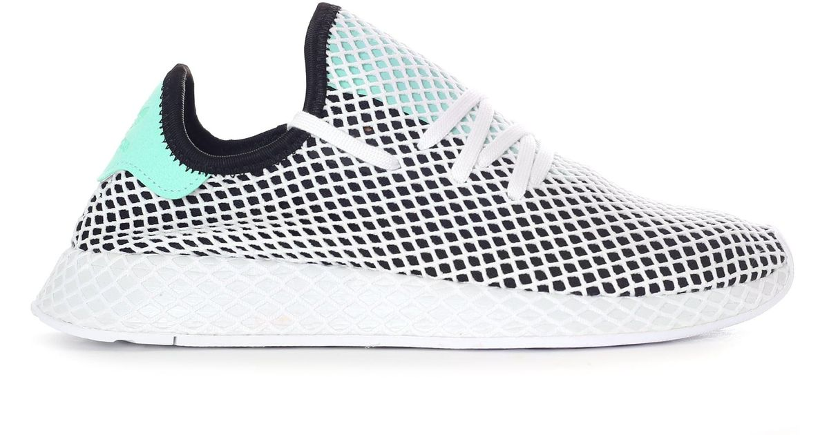 492419d7e adidas Men s Deerupt Runner Trainer Core Black easy Green footwear White  for Men - Lyst