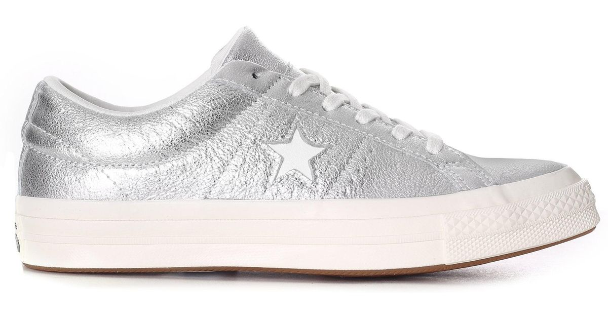 6505c5ba7f8 Converse One Star Heavy Metallic Leather Ox in Metallic - Save 43% - Lyst