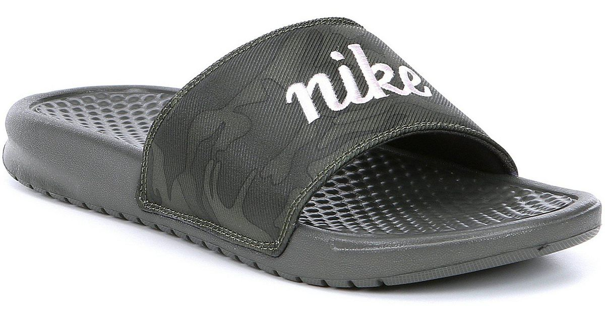 new product 4c798 fb04e Nike Women s Benassi Jdi Textile Se Slide in Black - Lyst
