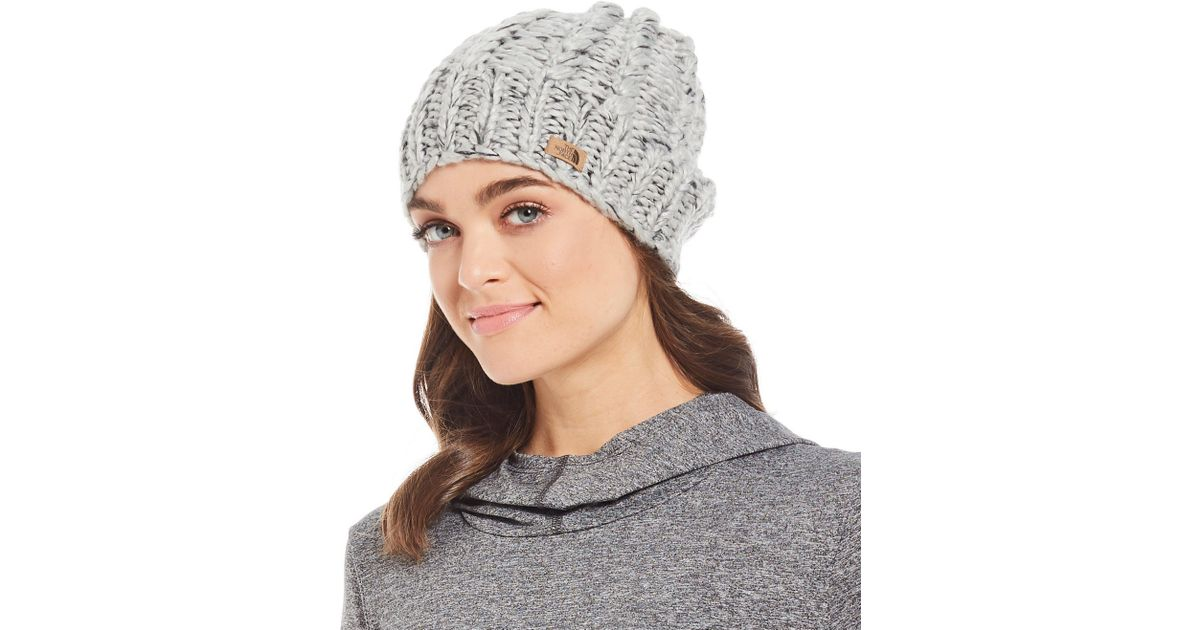399cd9df3 The North Face Gray Ladies' Chunky Knit Beanie