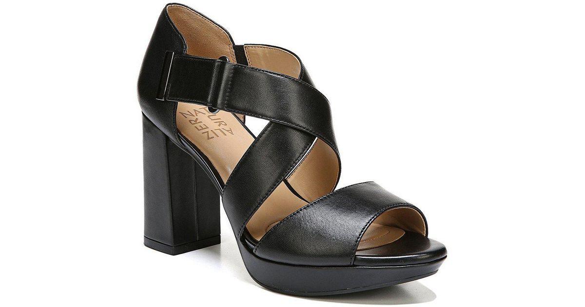 bf508e33df74 Lyst - Naturalizer Harper Leather Dress Sandals in Black