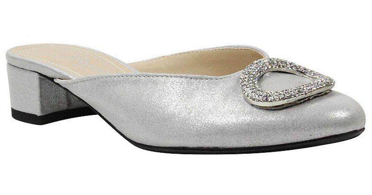 Melosa Satin Jewel Embellished Dress Mules 7aQ4MG