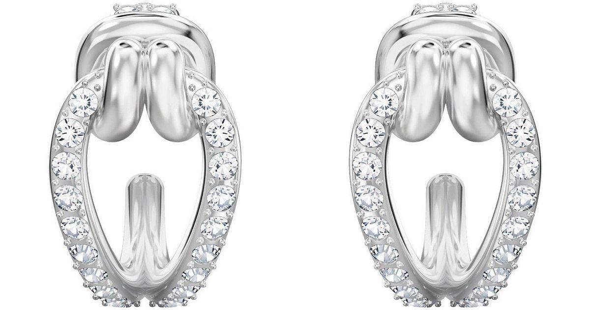 d433bd99e4584 Swarovski Metallic Lifelong Small Hoop Earrings