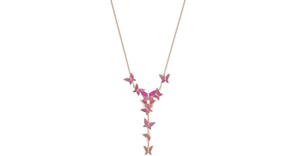 58a62baa719 Swarovski Pink Lilia Y- Shaped Necklace