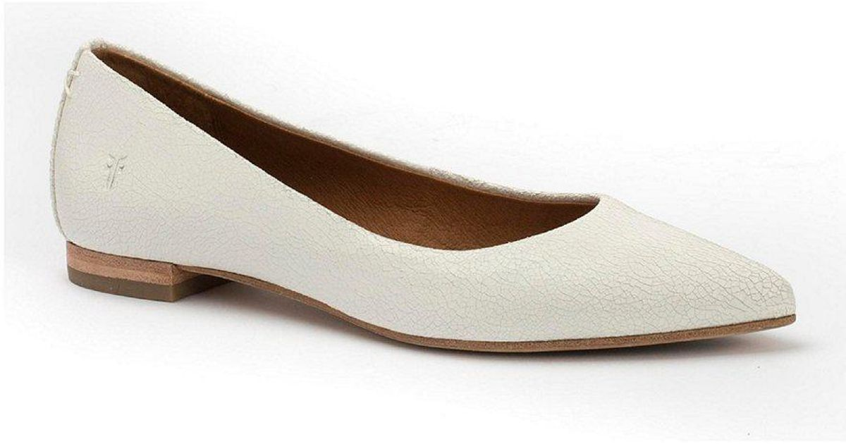 Sienna Crackle Leather Ballet Flats 8TlBp