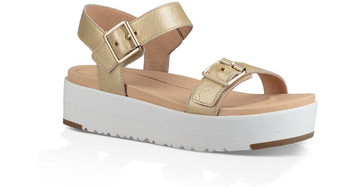 4f7b7126020 Ugg - Angie Metallic Buckle Sandals - Lyst