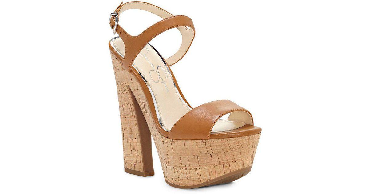 cb57eaa387f4 Lyst - Jessica Simpson Divella Platform Sandals in Brown