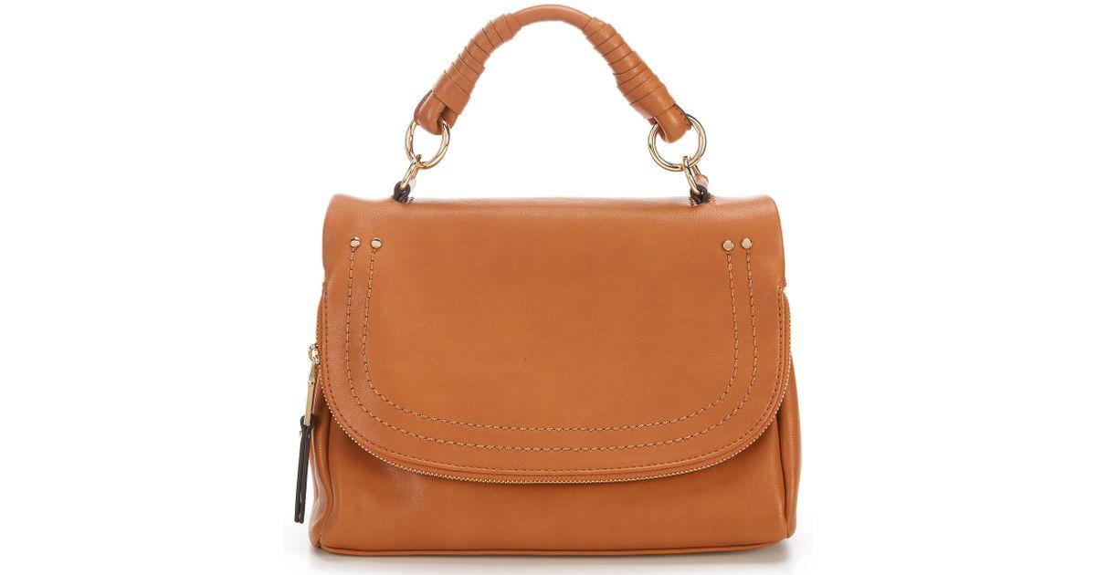bf43a3935 Sole Society Rubie Zipper Flap Cross-body Bag in Brown - Lyst