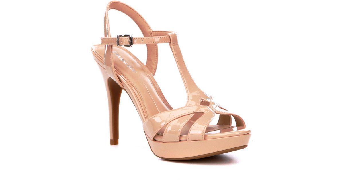 bfe57718901 Lyst - Gianni Bini Heleena Patent Dress Sandals