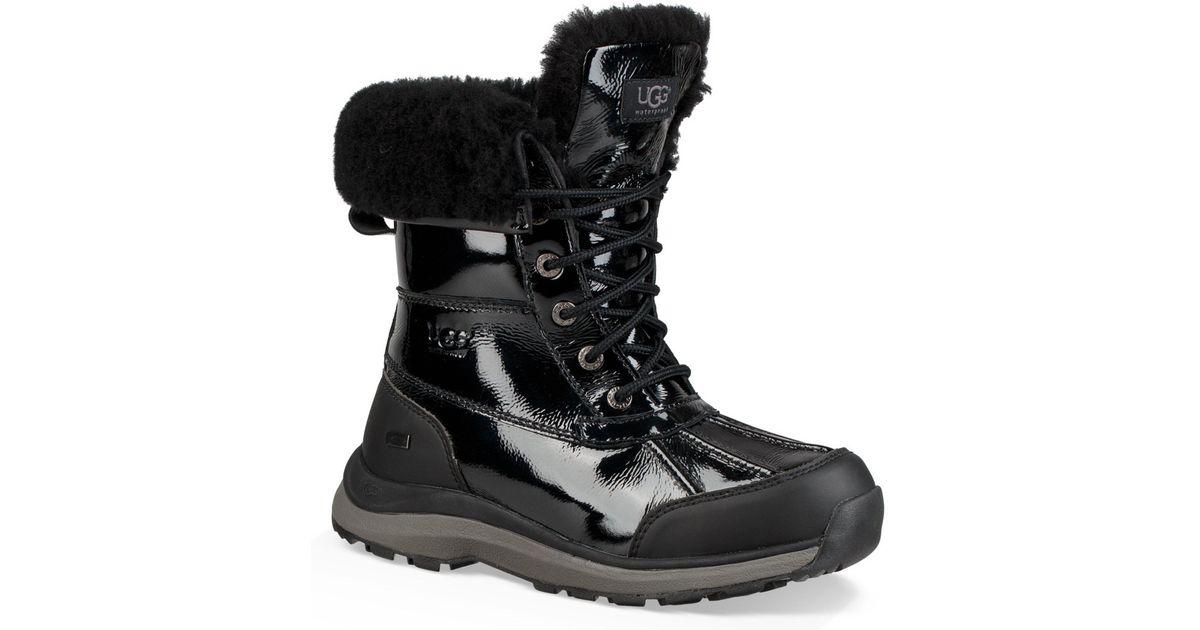 00818c3fe1a Ugg Black Adirondack Iii Patent Leather Winter Waterproof Boots