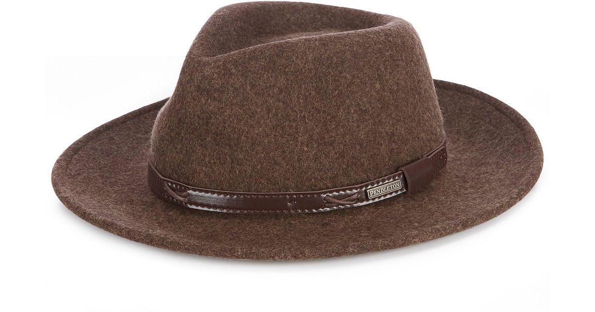 f3e89f874af Lyst - Pendleton Indiana Jones Water-repellent Wool Felt Hat in Green for  Men