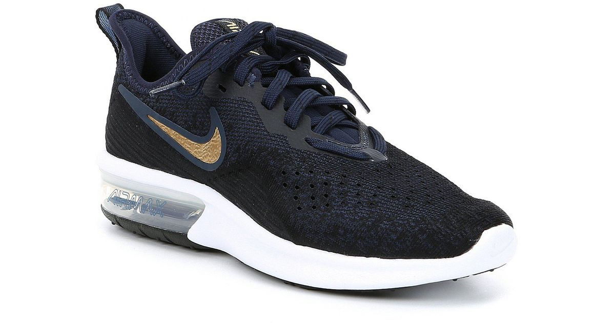 033df1e3c7f7 Lyst - Nike Women s Air Max Sequent 4 Running Shoe in Blue