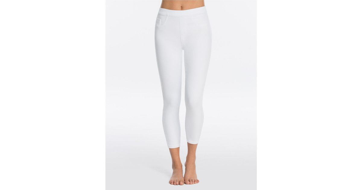 d8fa68efc97a2a Spanx Cropped Jean-ish Leggings in White - Lyst