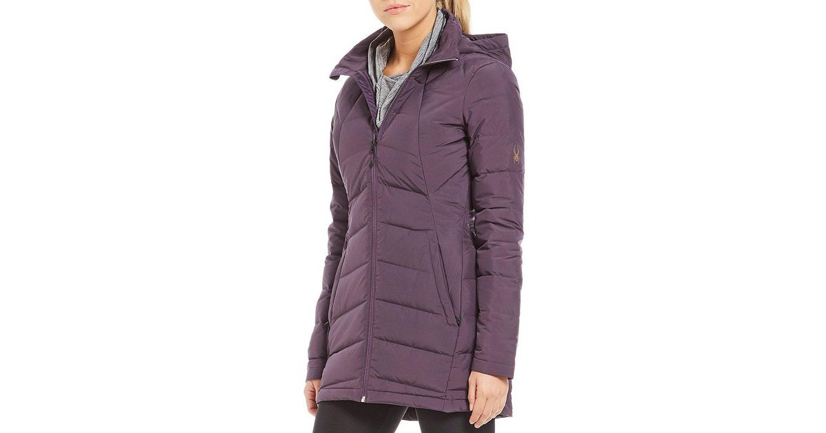 3ee2c0f86 Spyder Multicolor Syrround Long Down Hooded Coat