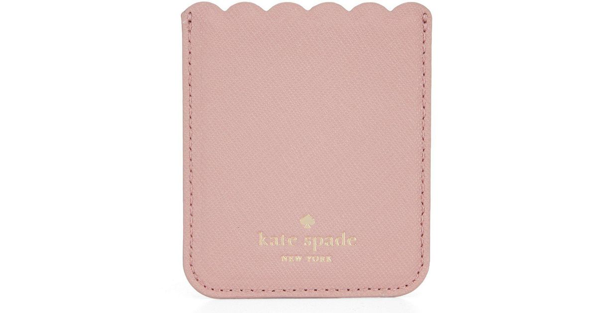 competitive price 73752 81086 Kate Spade Pink Scalloped Phone Sticker Pocket