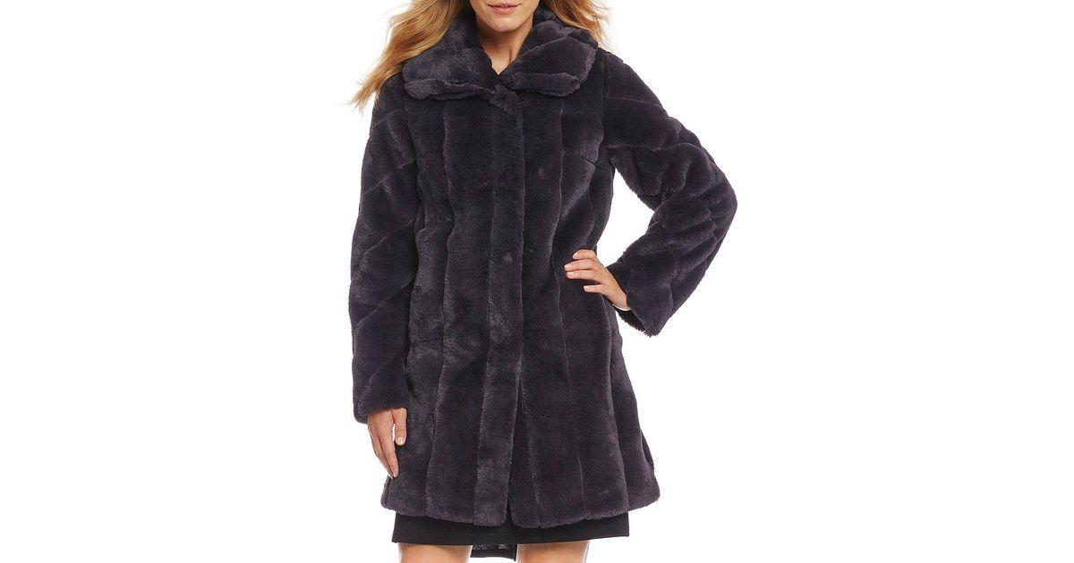 Fur shawl collar parka