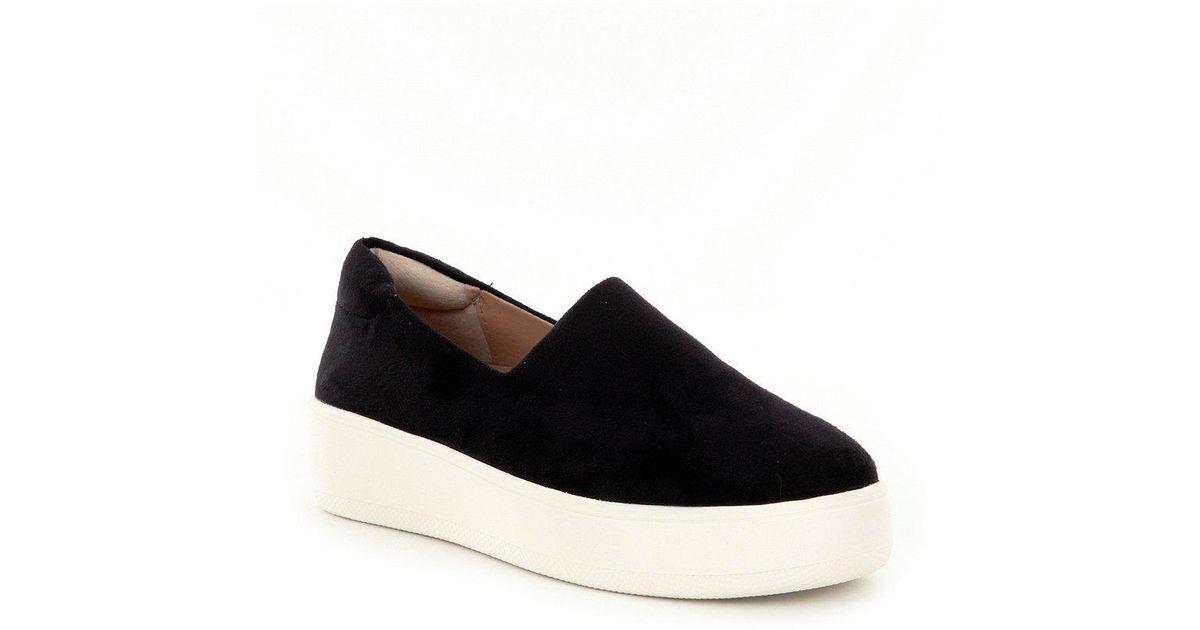 282300e90c4 Steve Madden - Black Steven By Hilda Microsuede Slip On Platform Sneakers -  Lyst