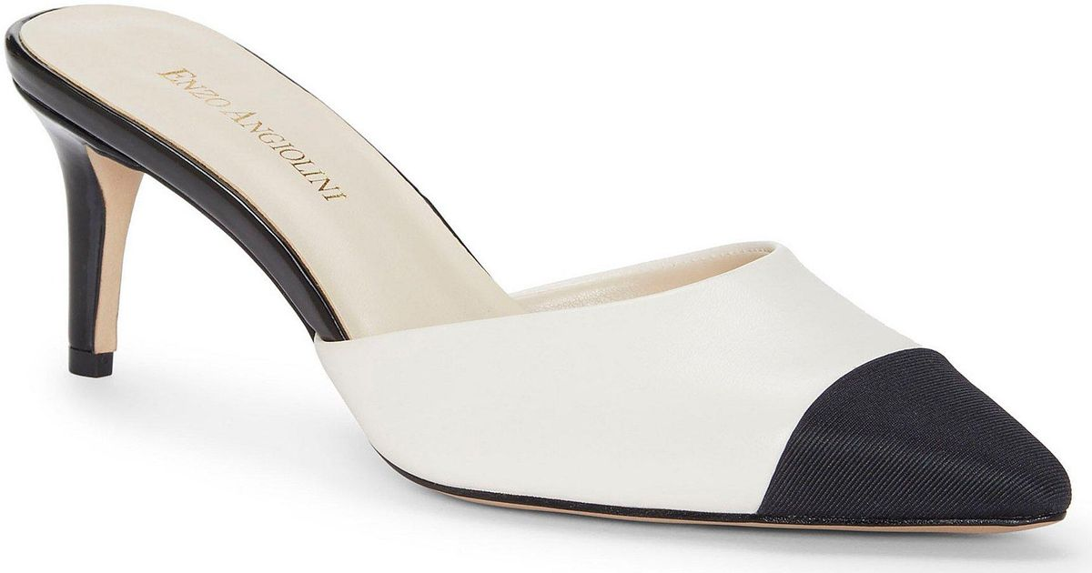 af957f0d872 Enzo Angiolini Multicolor Ranielle Leather & Grosgrain Mules