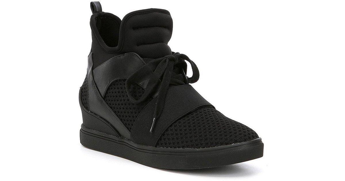 0d0d35c10ed Steve Madden White Lexi Wedge Sneakers