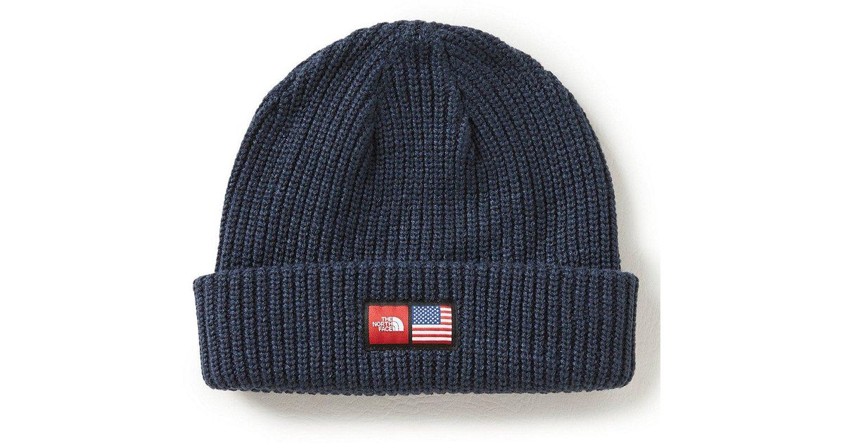 ed1f75bb697 Lyst - The North Face 2018 Winter Olympics Men s Beanie in Blue for Men