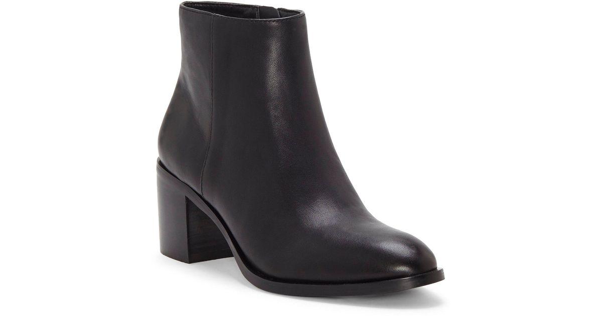 04d33acd5a60ba Lyst - Enzo Angiolini Jizelle Leather Block Heel Booties in Black