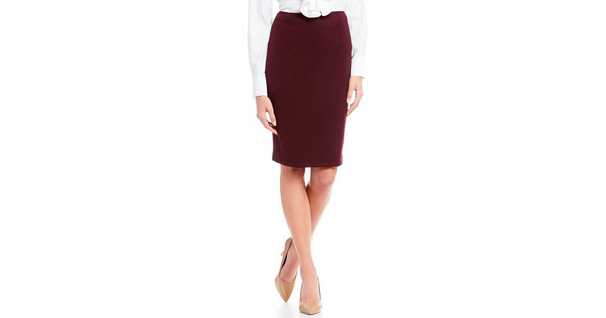 c6bf5c8f53cc5 Lyst - Antonio Melani Ace Pencil Skirt in Red