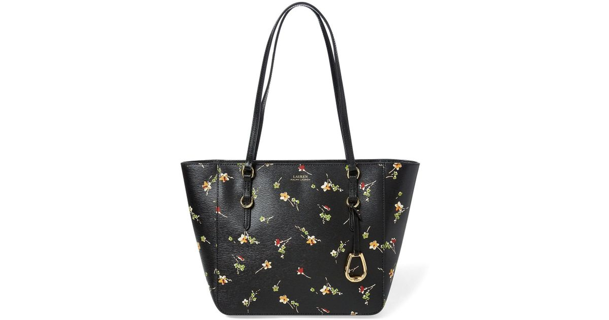 3d800d6541 Lyst - Lauren by Ralph Lauren Bennington Shopper (black Vintage Floral)  Handbags in Black