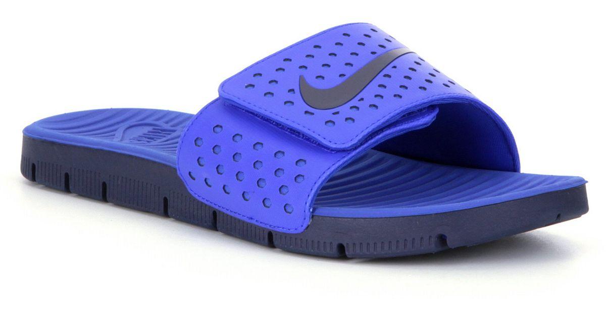 Elegant Nike Solarsoft Mule Slides Women Blue Running Shoes  5100