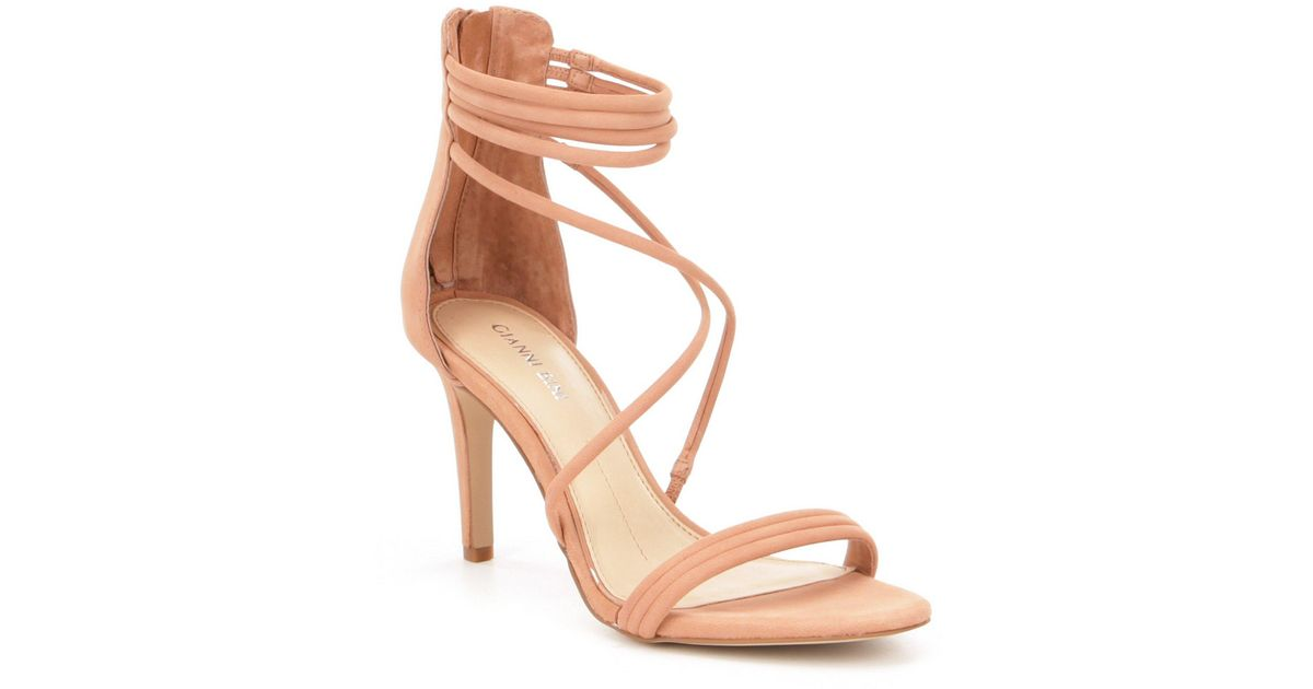 c8d0856a8b2 Gianni Bini Natural Noreena Strappy Banded Dress Sandals