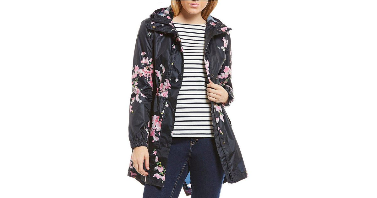 0f73bb2038a Joules Blue Golightly Waterproof Pack-a-way Rain Jacket
