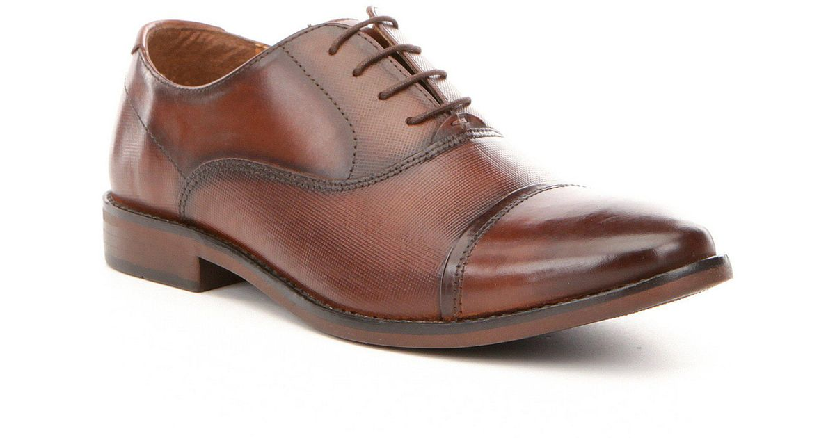4275a74bbd1 Steve Madden Brown Men's Finnch Leather Lace-up Cap Toe Oxfords for men