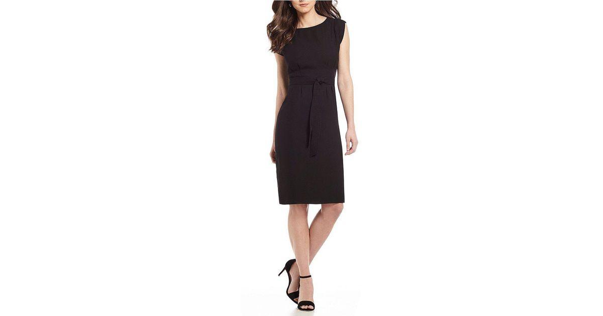 25bdbe45328 Lyst - Antonio Melani Adela Tie Waist Crepe Dress in Black