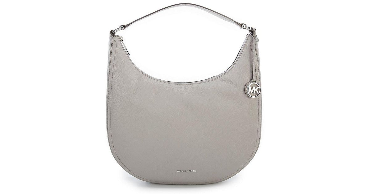 1799eb2c16ad MICHAEL Michael Kors Lydia Silver-tone Large Hobo Bag in Gray - Lyst