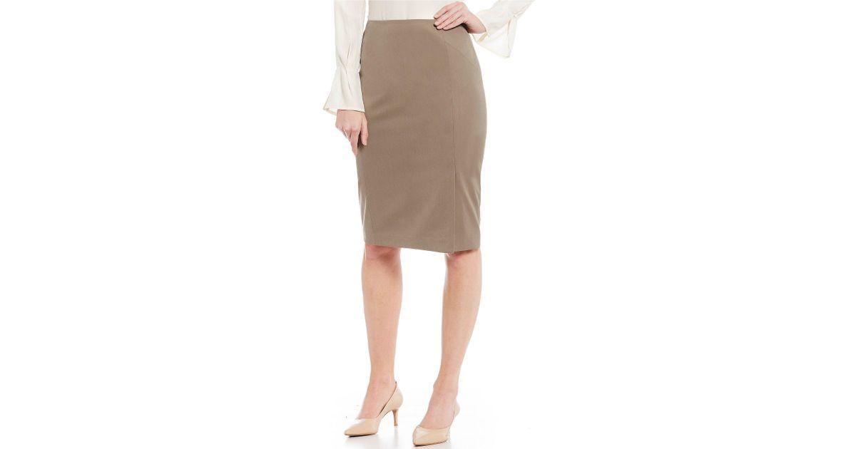 d9990ef8ddc Lyst - Antonio Melani Velma Twill Pencil Skirt