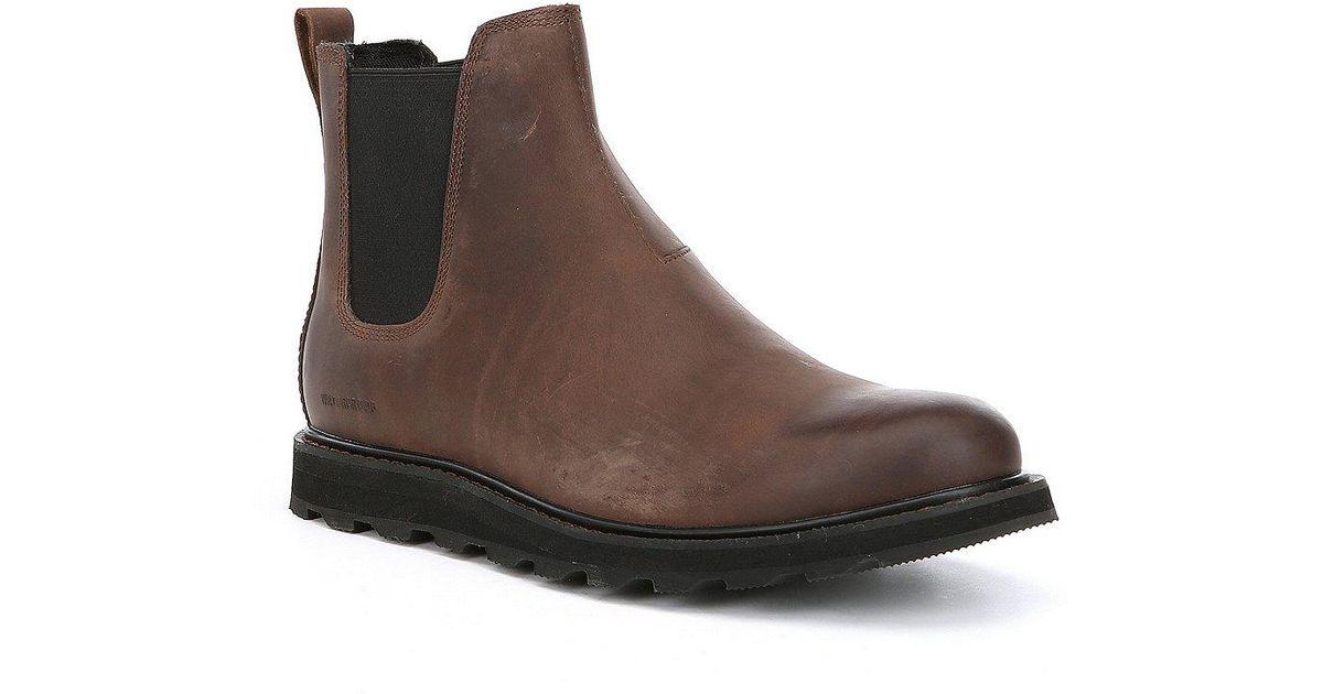 Sorel Brown Men's Madson Chelsea Waterproof Boots for men