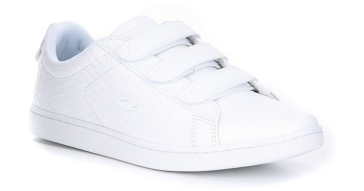 urok kosztów wyprzedaż ze zniżką najlepsza wartość Lacoste White Carnaby Evo Str Velcro Strap Trainers