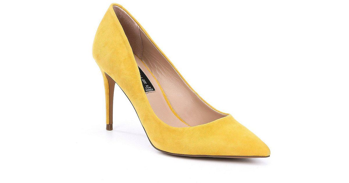 Steven by Steve Madden Local Suede Pointed Toe Pumps hQiDT4abQ