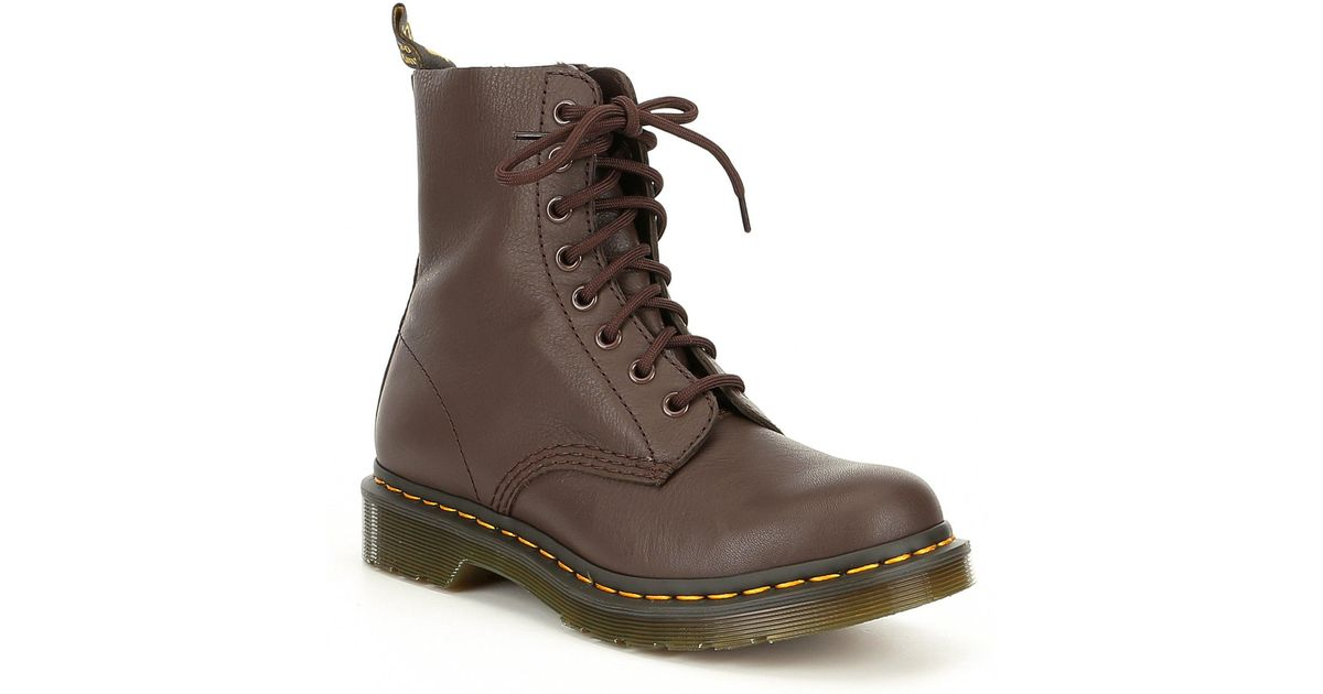ec63b17ef26 Dr. Martens Brown 1460 Pascal Nappa Leather Boots