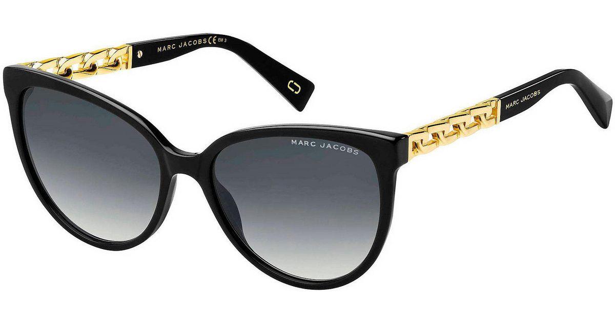 bf92f700b8e4 Marc Jacobs Cat Eye Sunglasses in Black - Lyst