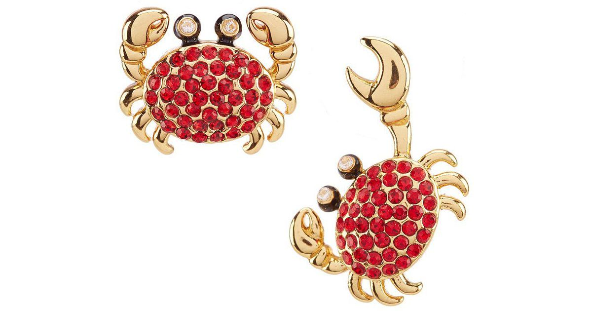 172714f460094 Kate Spade Red Pave Crab Stud Earrings